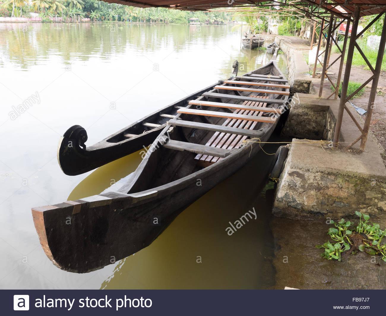 Barche vicino a Alleppey Immagini Stock