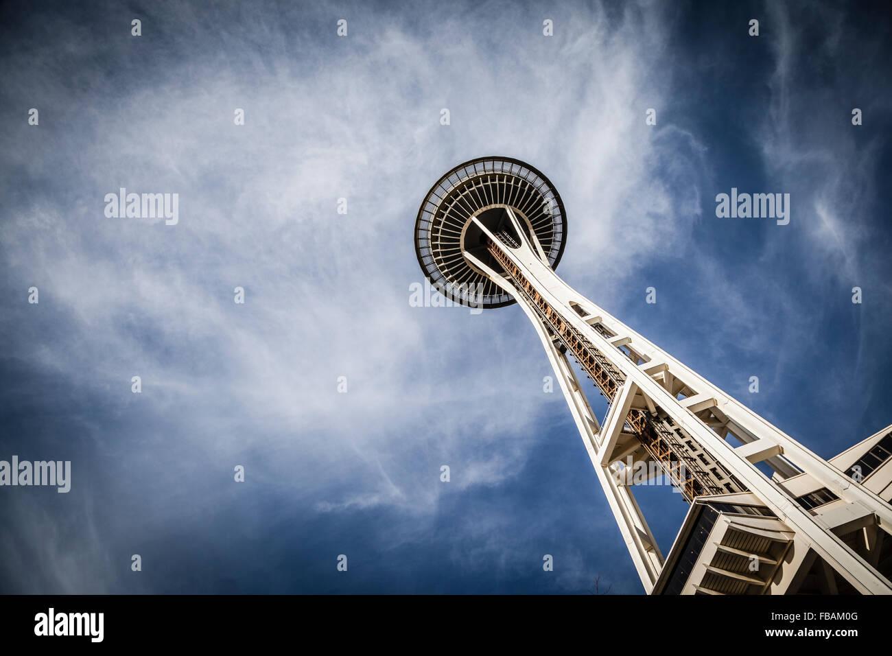 Lo Space Needle, a Seattle, Washington. Immagini Stock