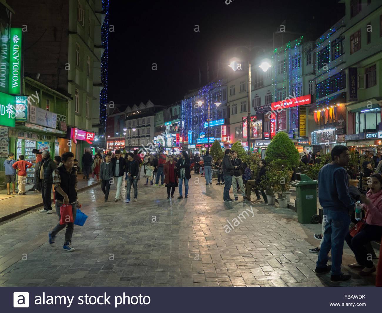 Gangtok centro città Immagini Stock