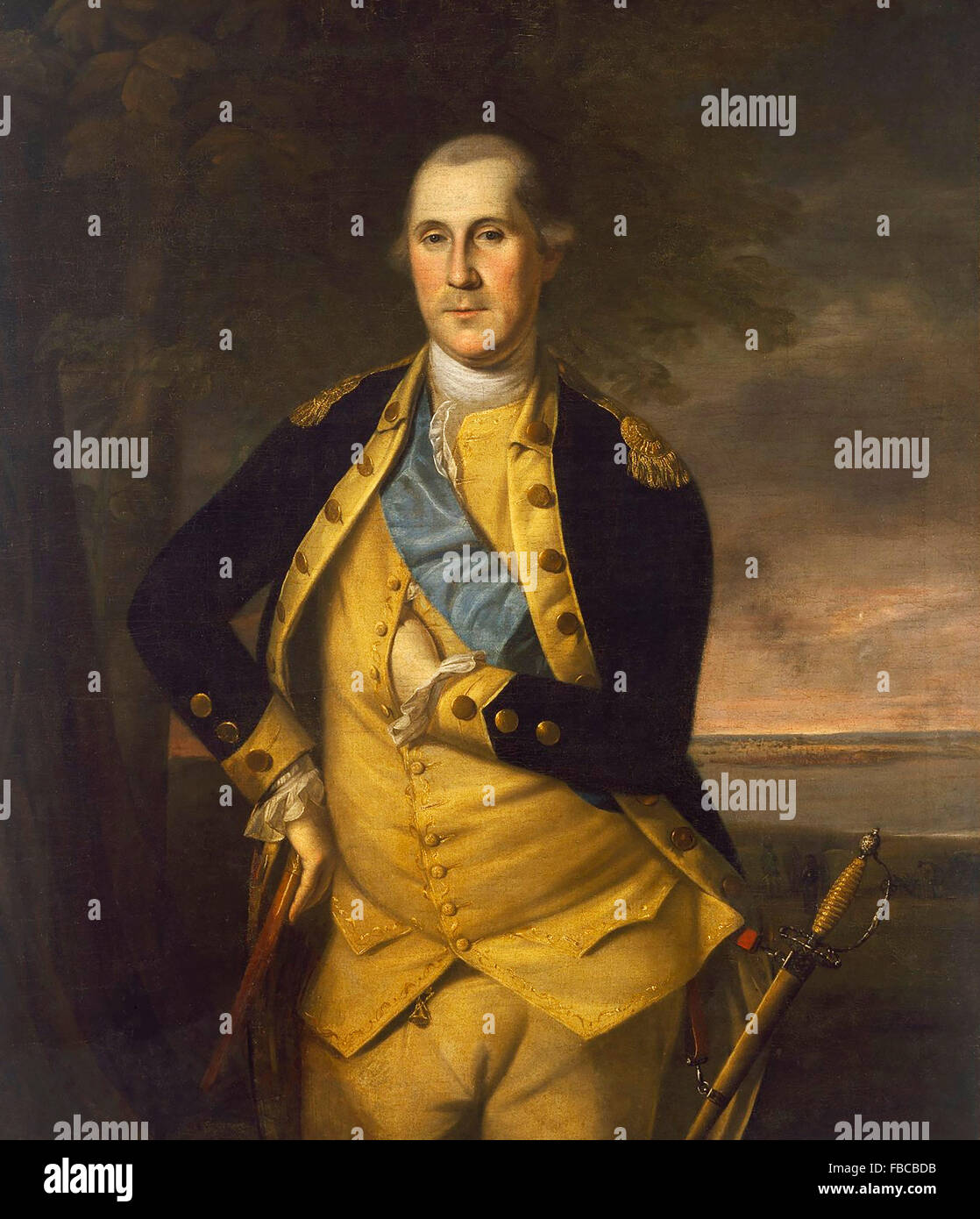 General George Washington, ritratto da Charles Willson Peale, 1776 Immagini Stock