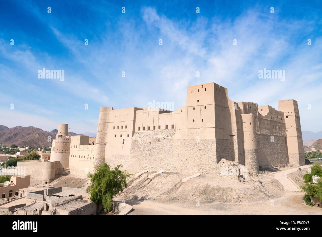 Vista esterna di Bahla Fort in Oman un Sito Patrimonio Mondiale dell'UNESCO Immagini Stock