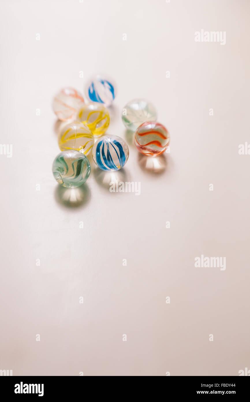 Close-Up dei marmi di vetro Immagini Stock