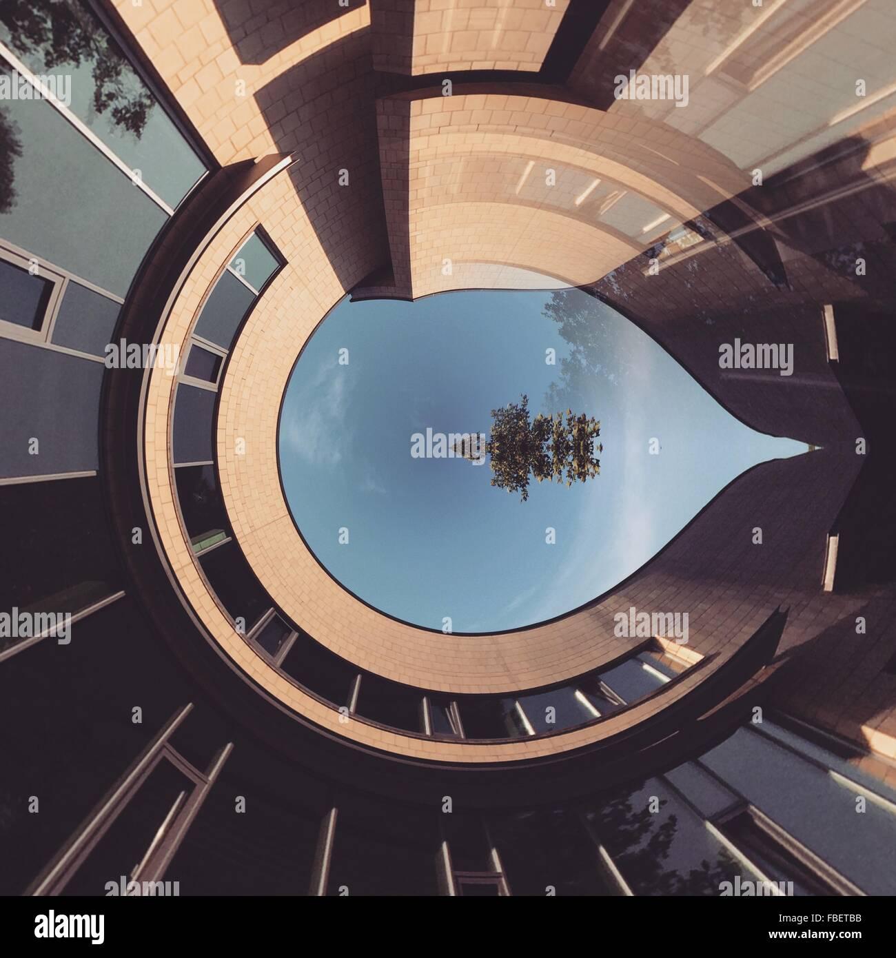 Digital immagine composita della costruzione Immagini Stock