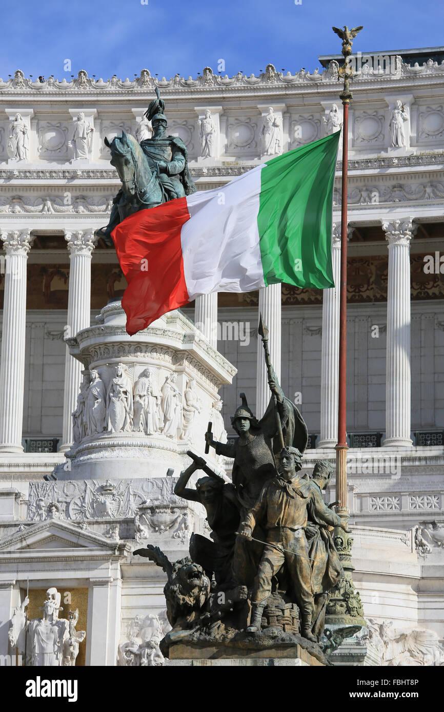 Monumento Nazionale di Vittorio Emanuele II, Roma, Italia. Immagini Stock