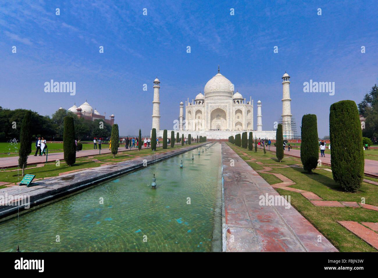 Il grande Taj Mahal, Agra, India Immagini Stock