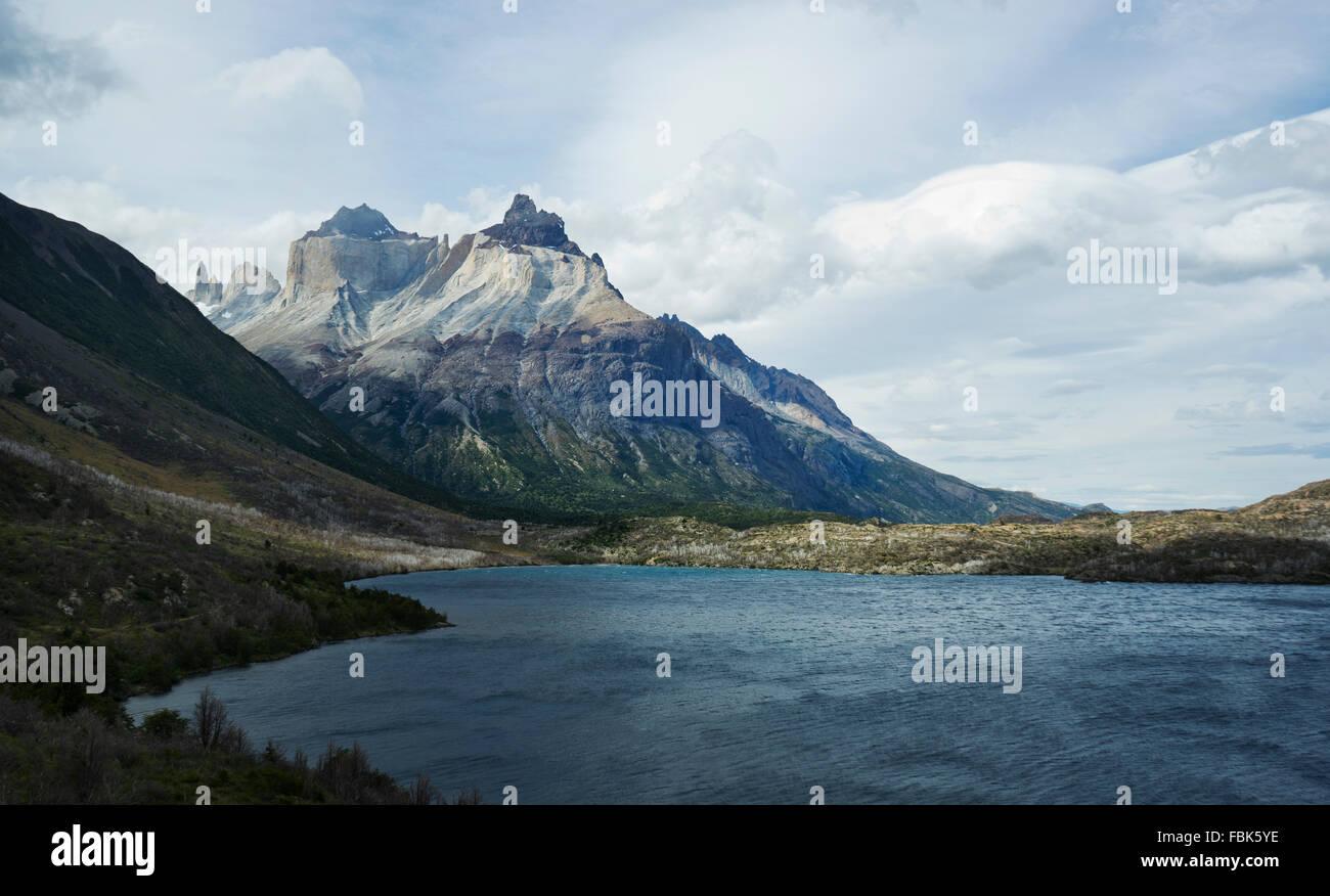 Patagonia; W Trek; Torres del Paine; Argentina Immagini Stock