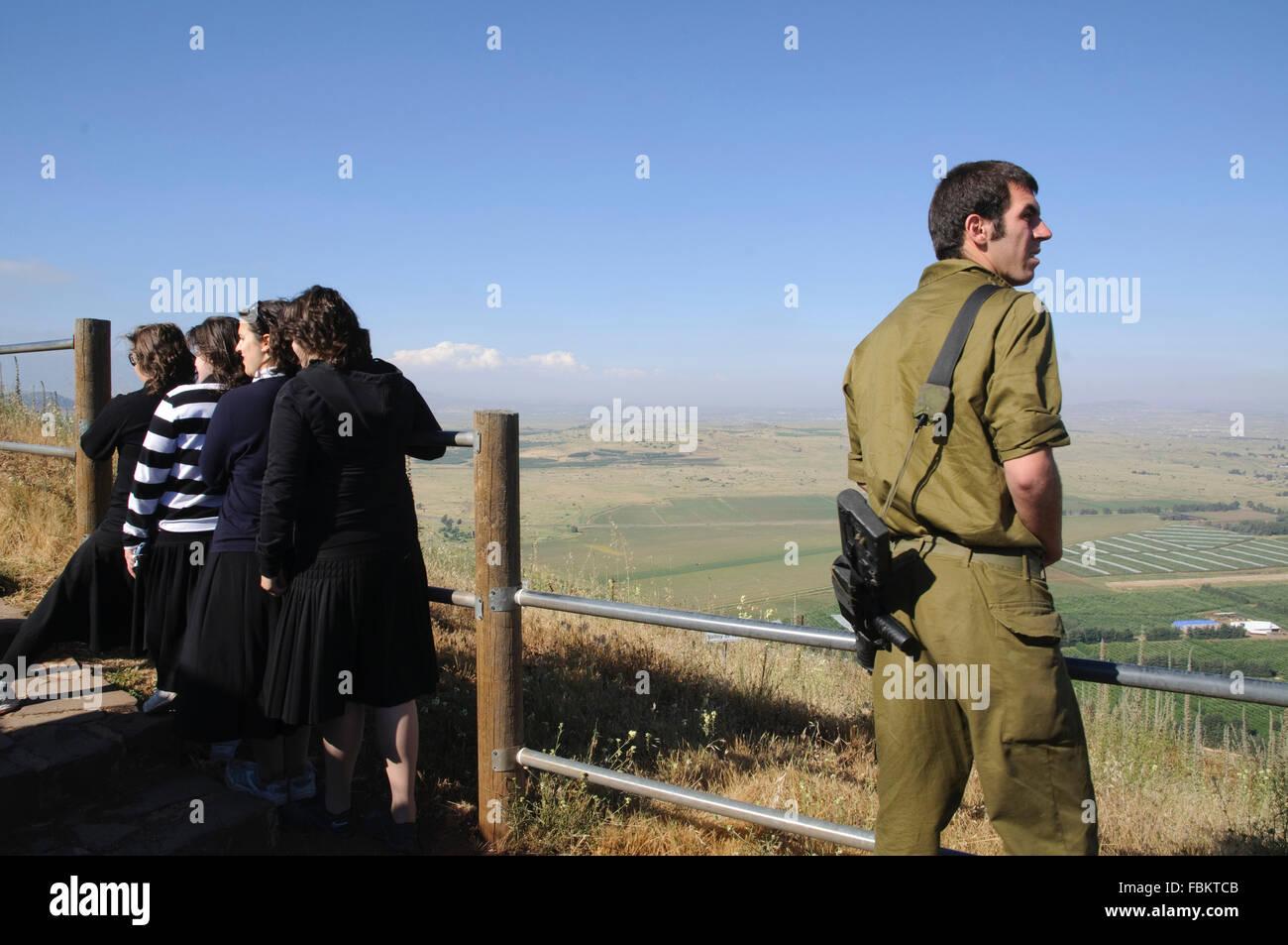 Vista dal Monte Bental, Golan, della Galilea, Israele Immagini Stock