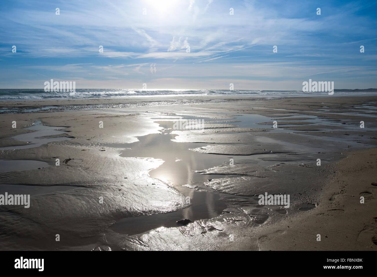Spiaggia di Porto de Mos Algarve Portogallo Immagini Stock
