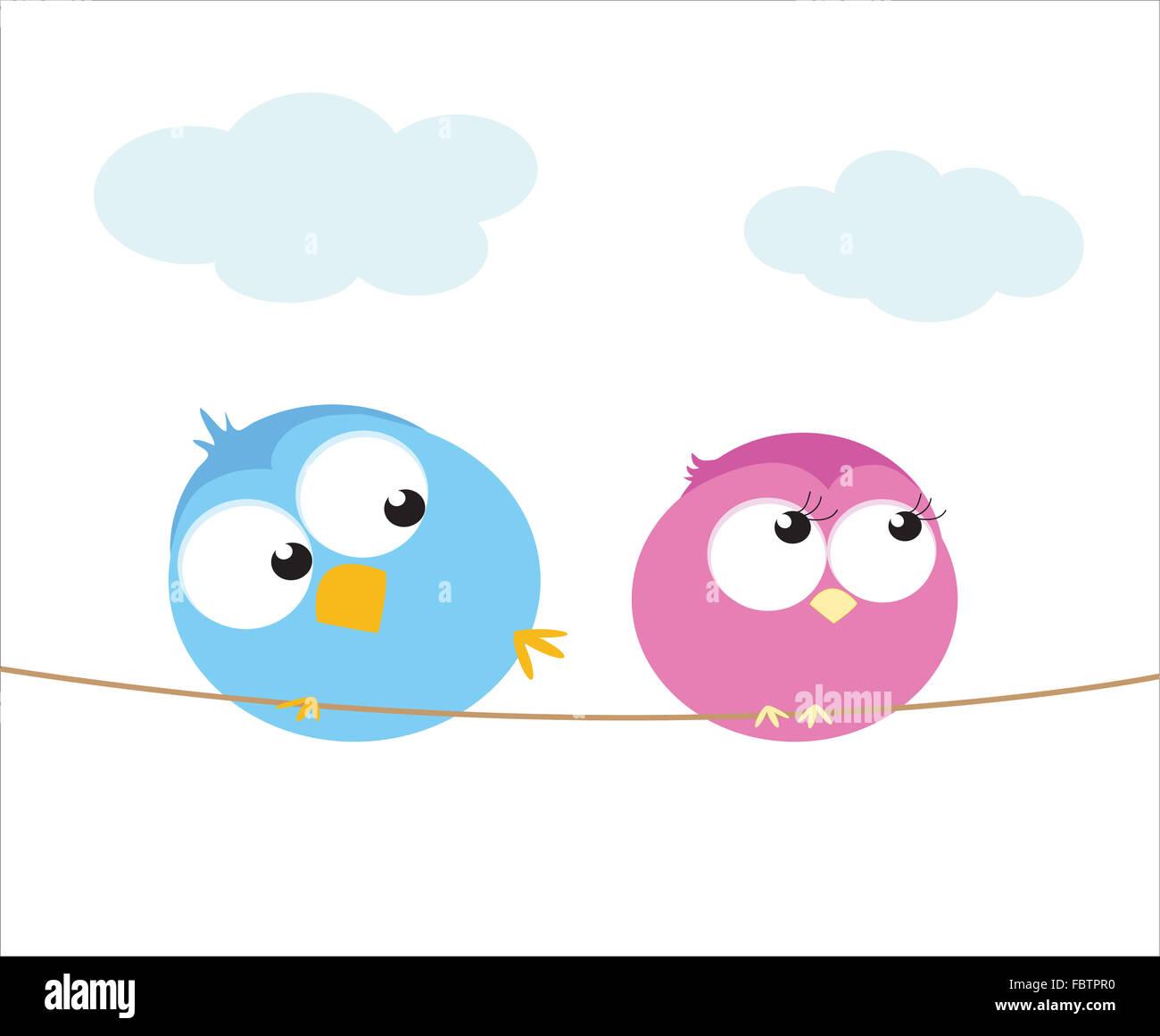 Uccelli amoreggiare Immagini Stock