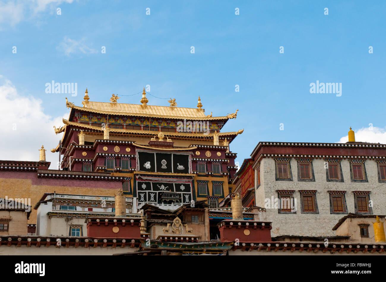 Songzanlin monastero tibetano, Shangri-la Cina Immagini Stock