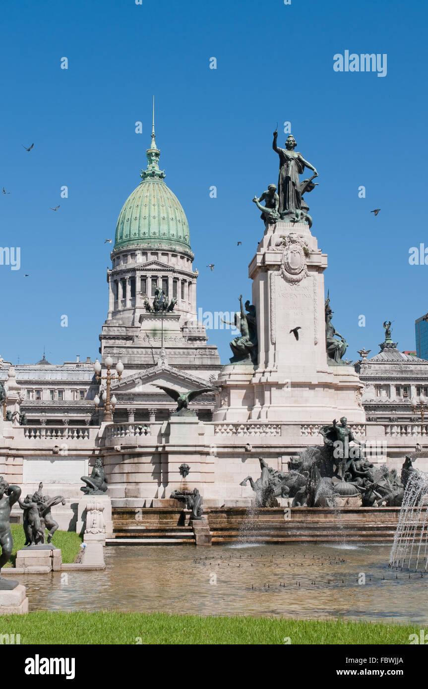 Congresso nazionale edificio, Buenos Aires, Argentina Immagini Stock