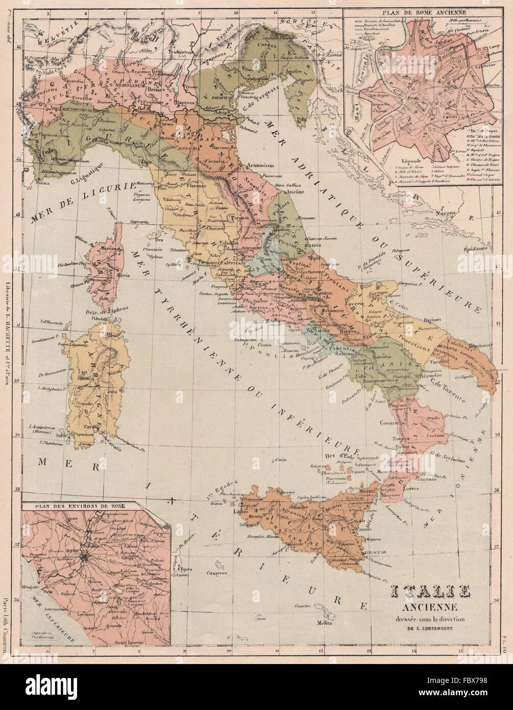 Cartina Antica Roma.Italia Antica Sotto I Romani Inset Antica Roma E Dintorni 1880 Mappa Antichi Foto Stock Alamy