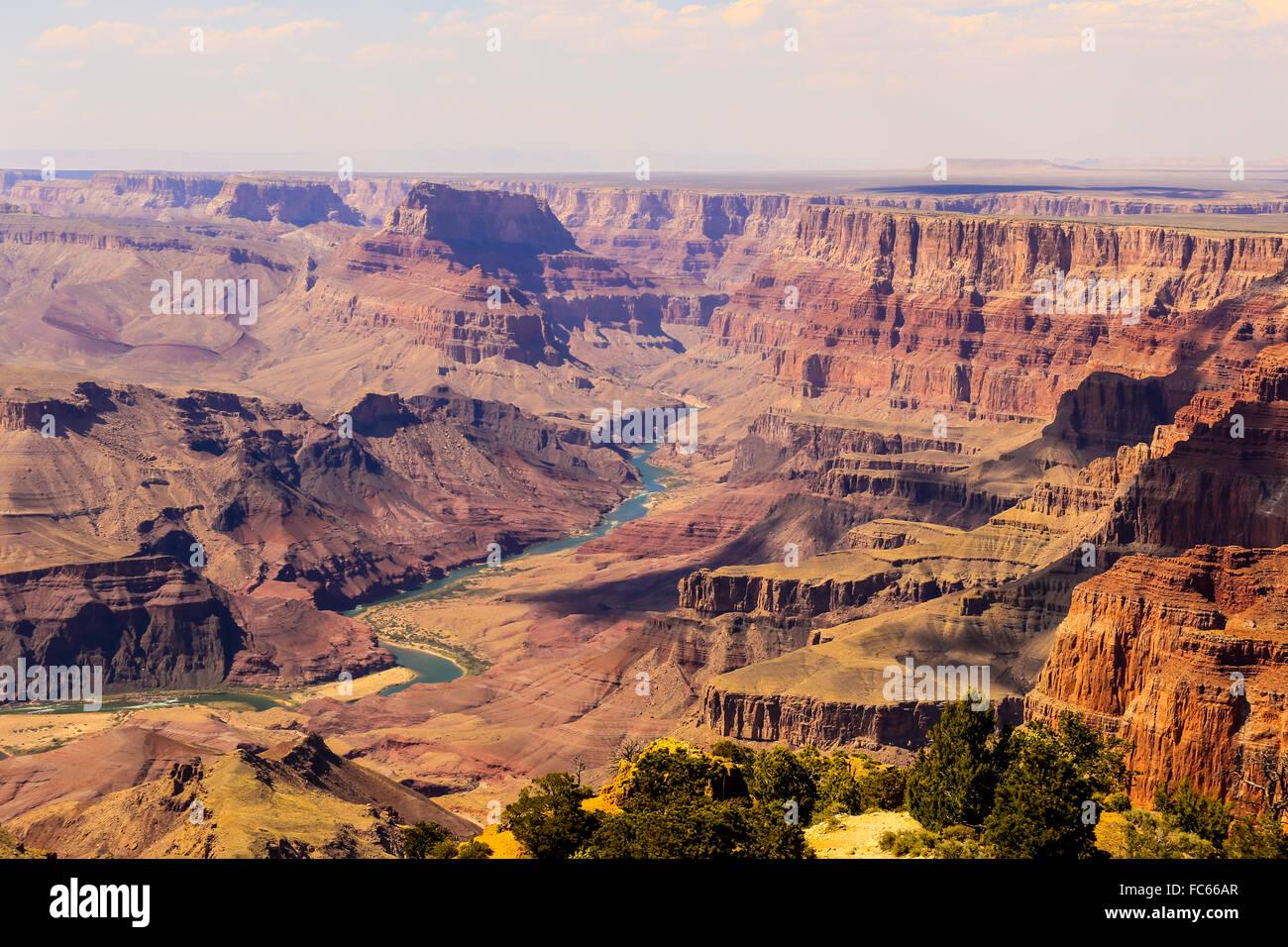 Grand Canyon panorama Immagini Stock