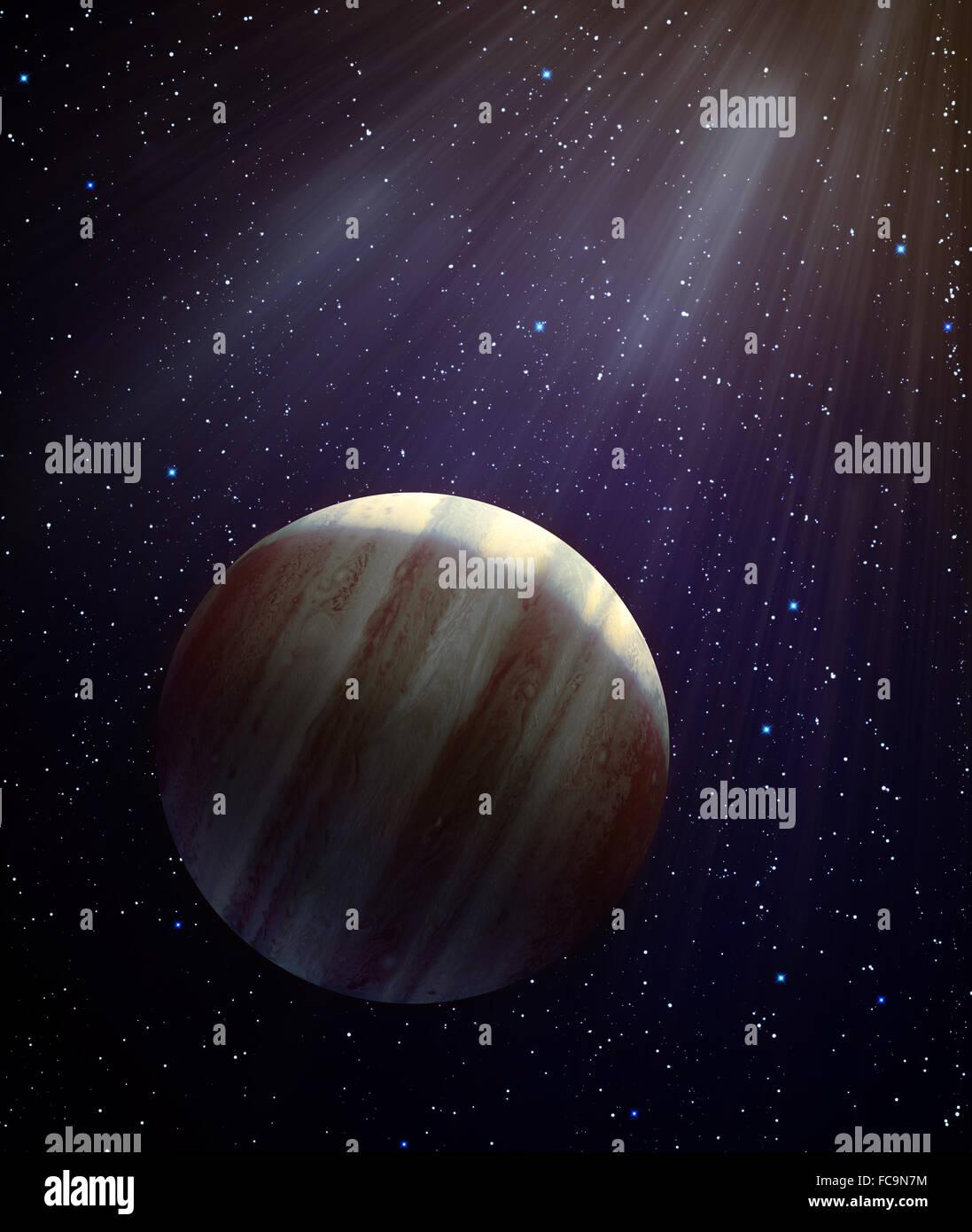 Potenziale nuovo pianeta del sistema solare - Planet X Immagini Stock
