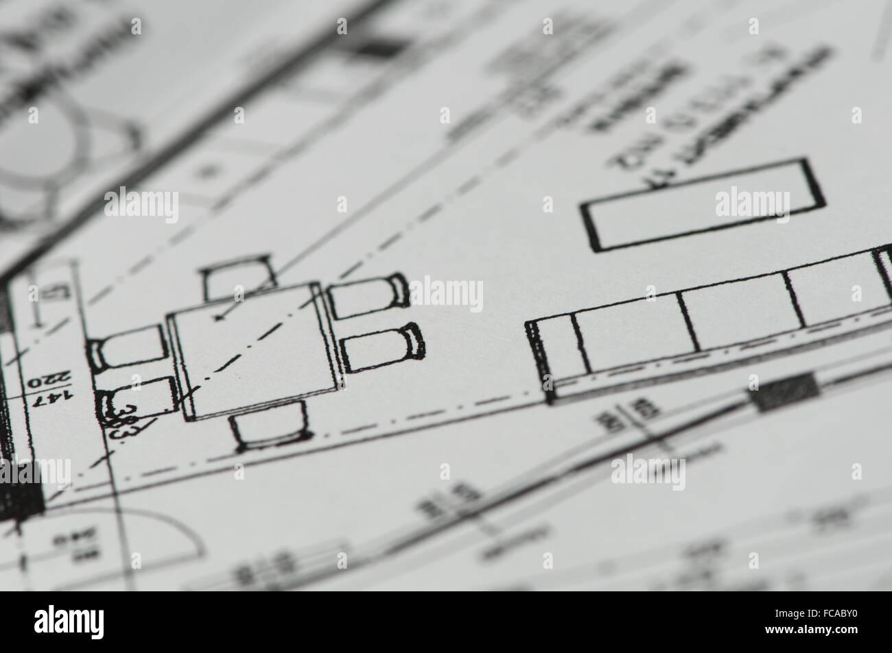 Blueprint di vettore Immagini Stock