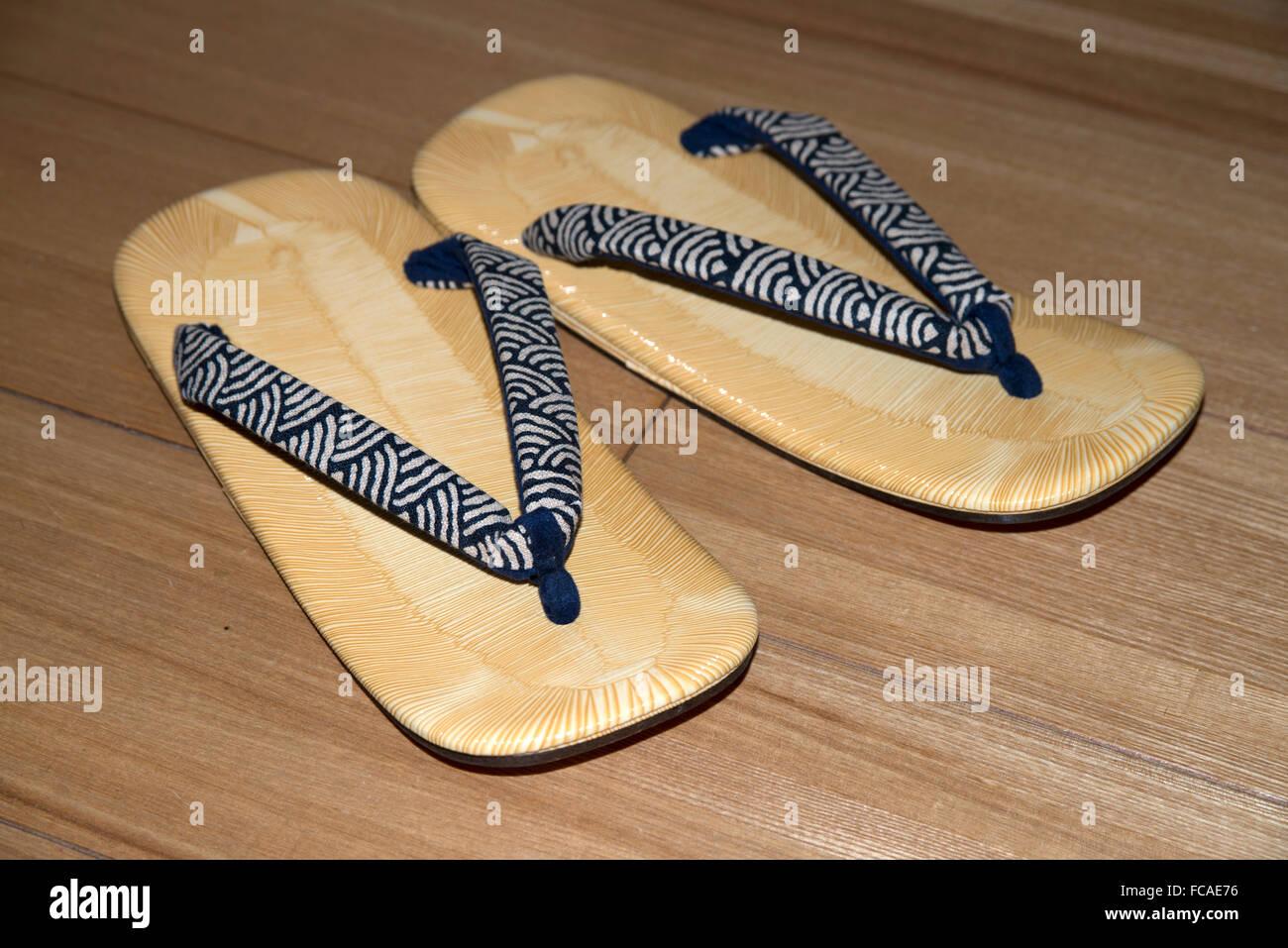 Giapponese sandali di Seta Immagini Stock