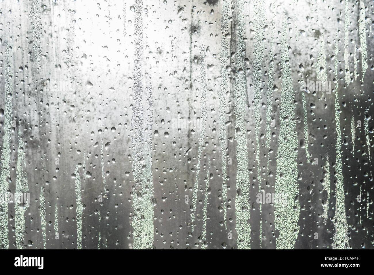 Miserabile finestra invernale Foto Stock