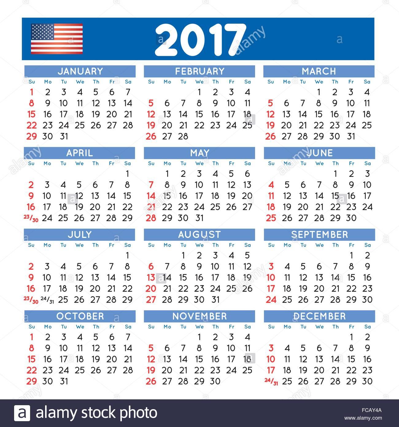 Calendario Anno 2017.2017 Elegante Calendario Squadrato Anno 2017 Calendario Il