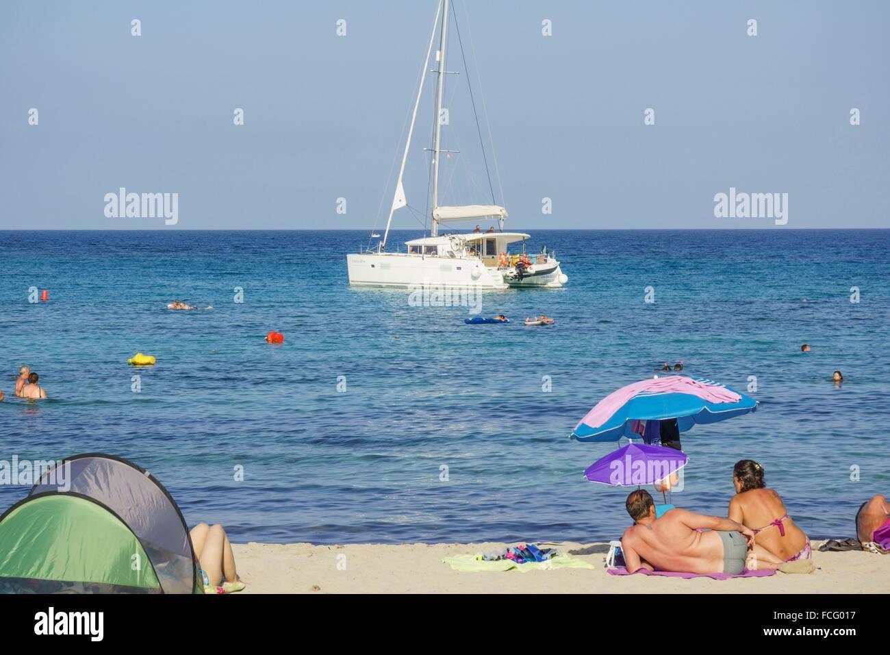 Sa Font de Sa Cala, municipio de Capdepera,Islas Baleares, Spagna. Immagini Stock
