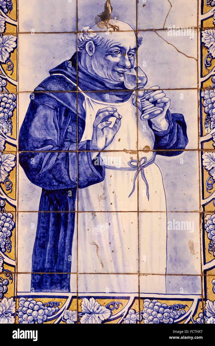 Il Portogallo, Lisbona, Baixa pombalin, azulejo, piastrella raffigurano Immagini Stock