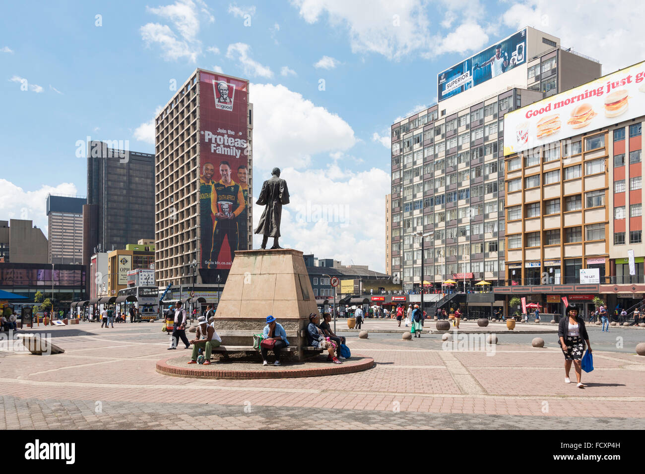 Gandhi Square, Johannesburg, città di Johannesburg Metropolitan comune, provincia di Gauteng, Repubblica del Immagini Stock