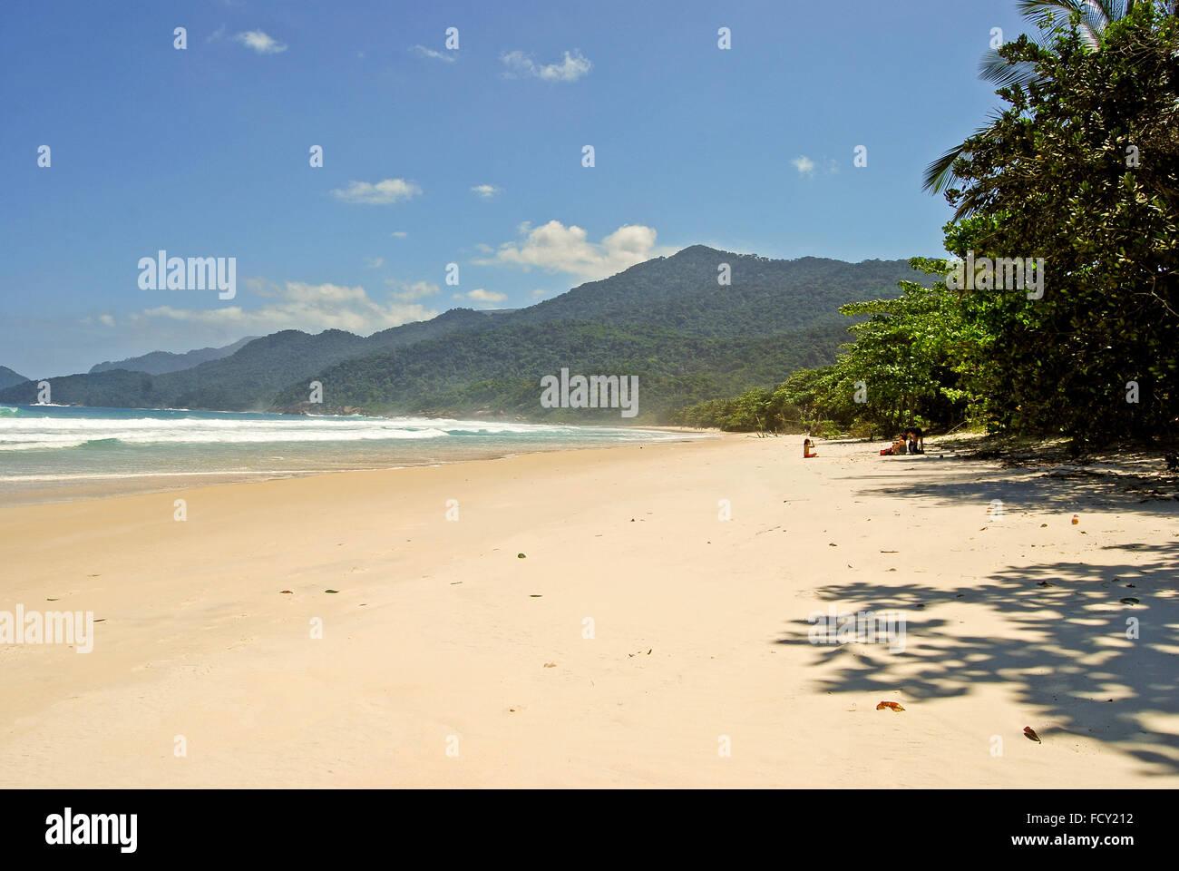 Ilha Grande Isola: spiaggia Praia Lopes Mendes, stato di Rio de Janeiro, Brasile America del Sud Immagini Stock