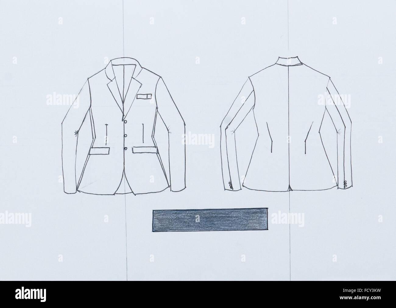 Un Di Disegna Giacca Tecniche Moda Schizzo Disegno Mano A Uomo 7Rw4a