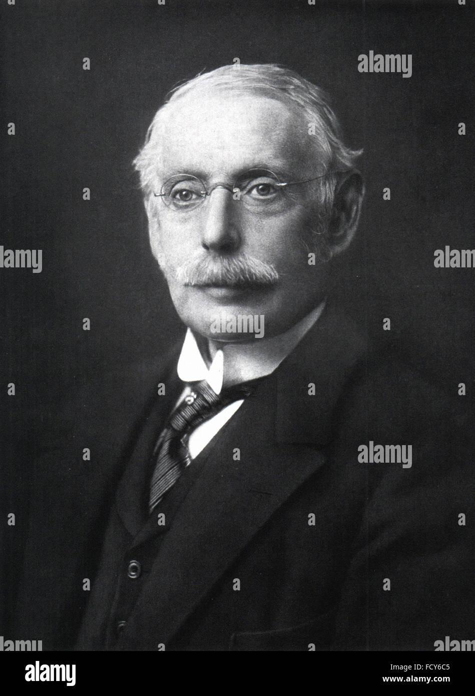Ritratto di Carlo parsons 1854 1931 engineer Immagini Stock