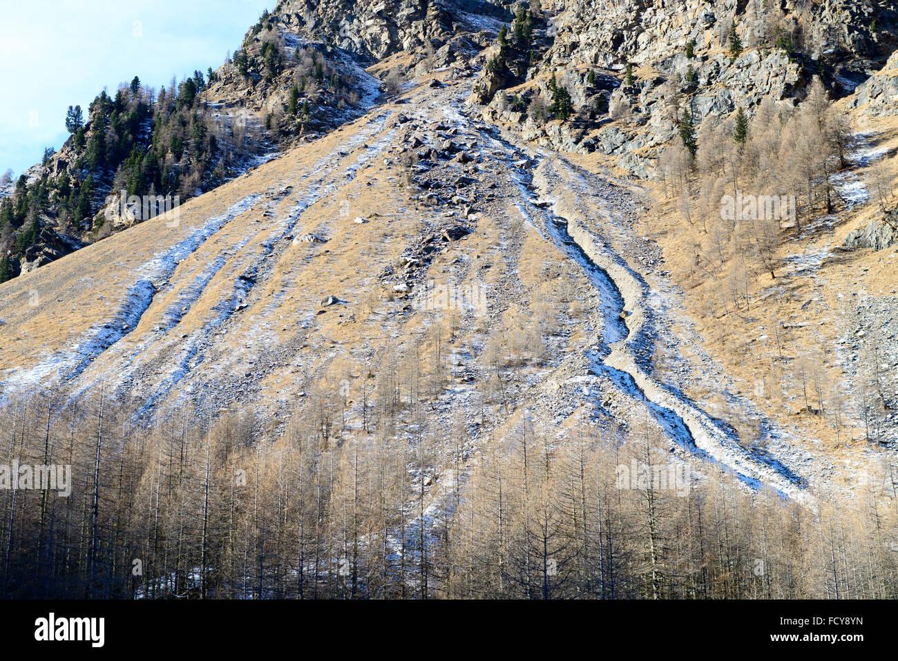 Erosionskegel / cono di erosione Immagini Stock