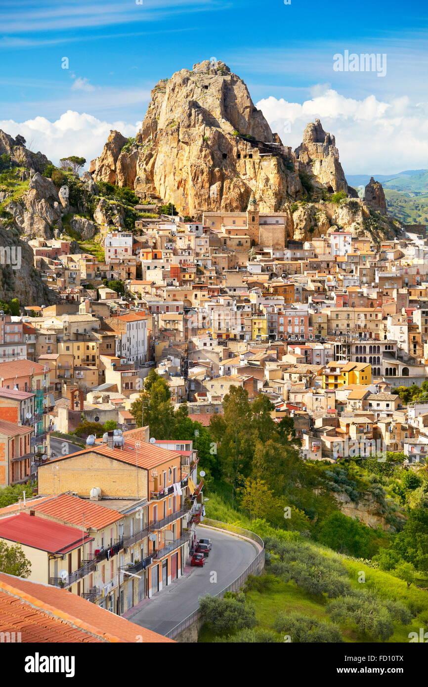 Gagliano Castelferrato, provincia di Enna, Sicilia, Italia Immagini Stock