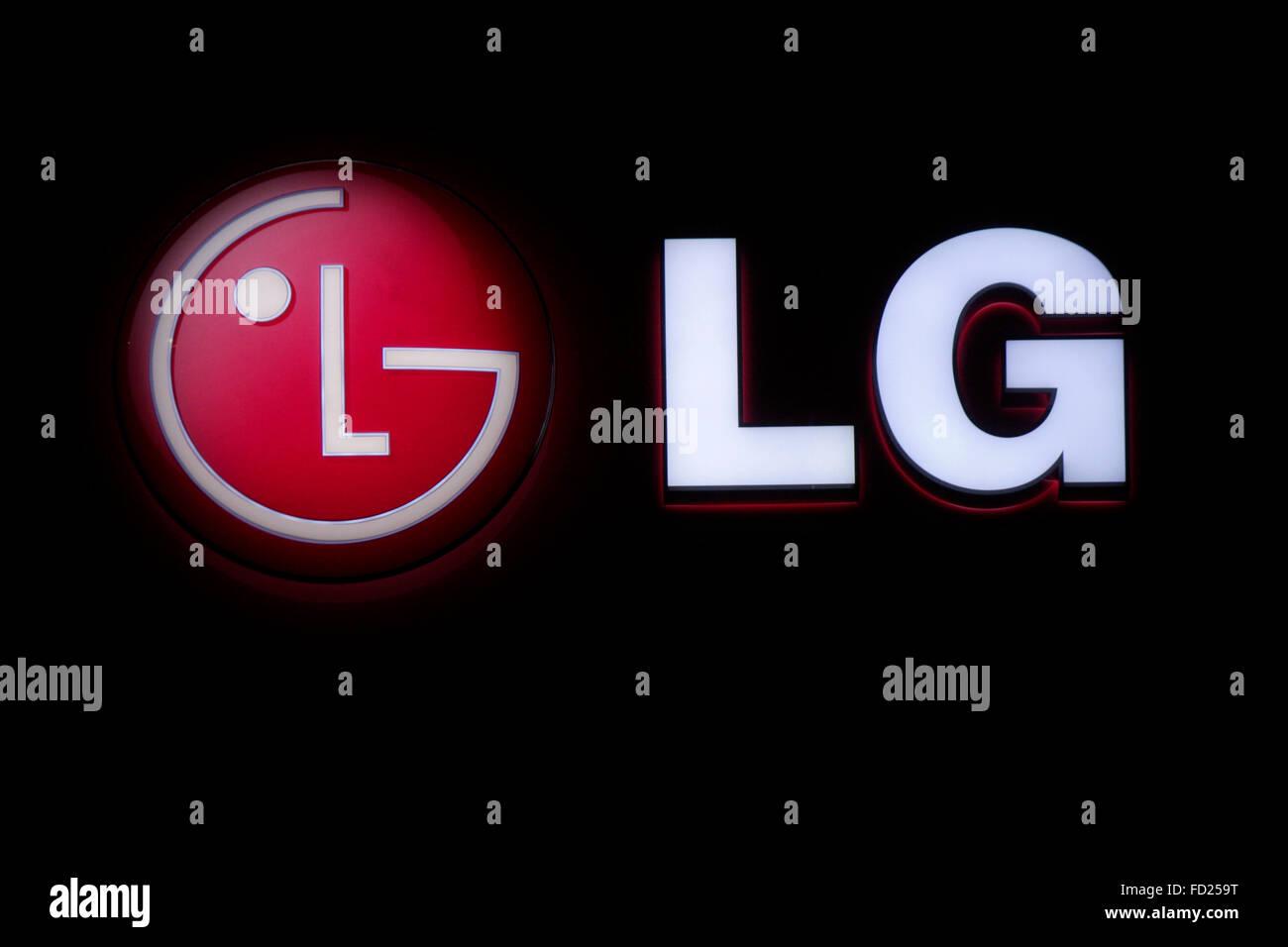 Markenname: 'LG' , Berlino. Foto Stock