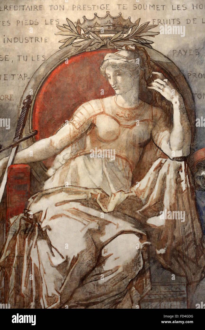 La pittura. La nobiltà. Olio su tela. Cappella del cancelliere GuŽrin. Museo di Arte e archeologia Senlis. Immagini Stock