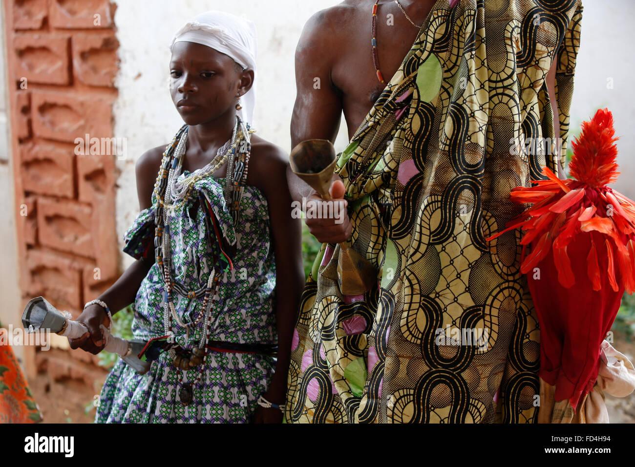 Voodoo vettori achina a Ouidah Immagini Stock