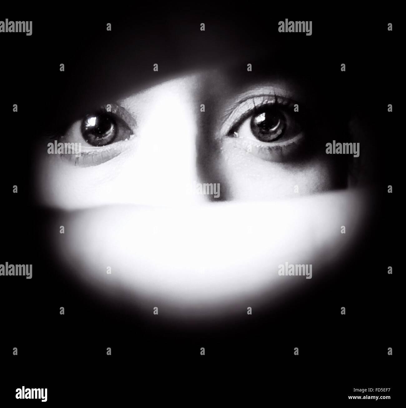 Dettaglio degli occhi umani Immagini Stock