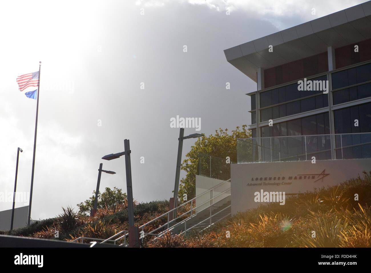 Una vista di Lockheed Martin Centro di tecnologia avanzata in Palo Alto, California Immagini Stock