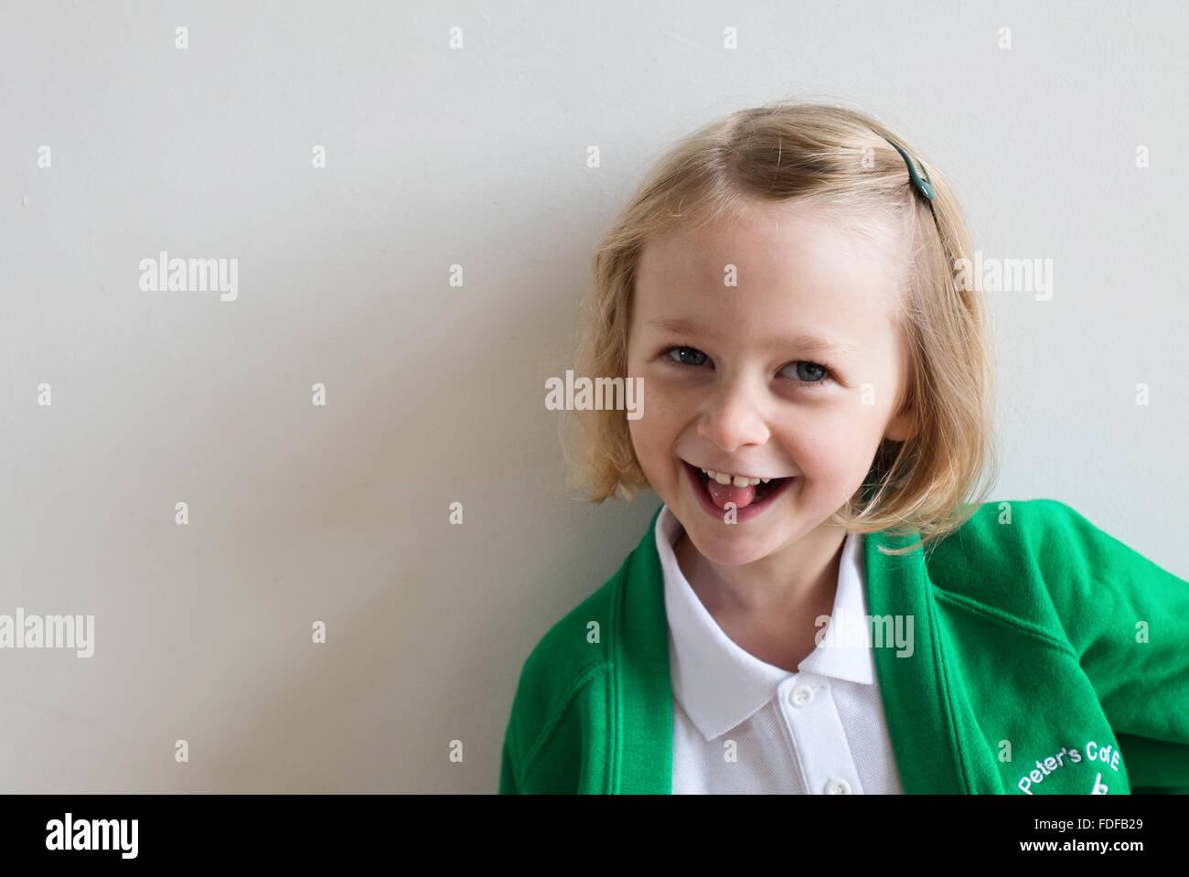 Happy School girl Immagini Stock