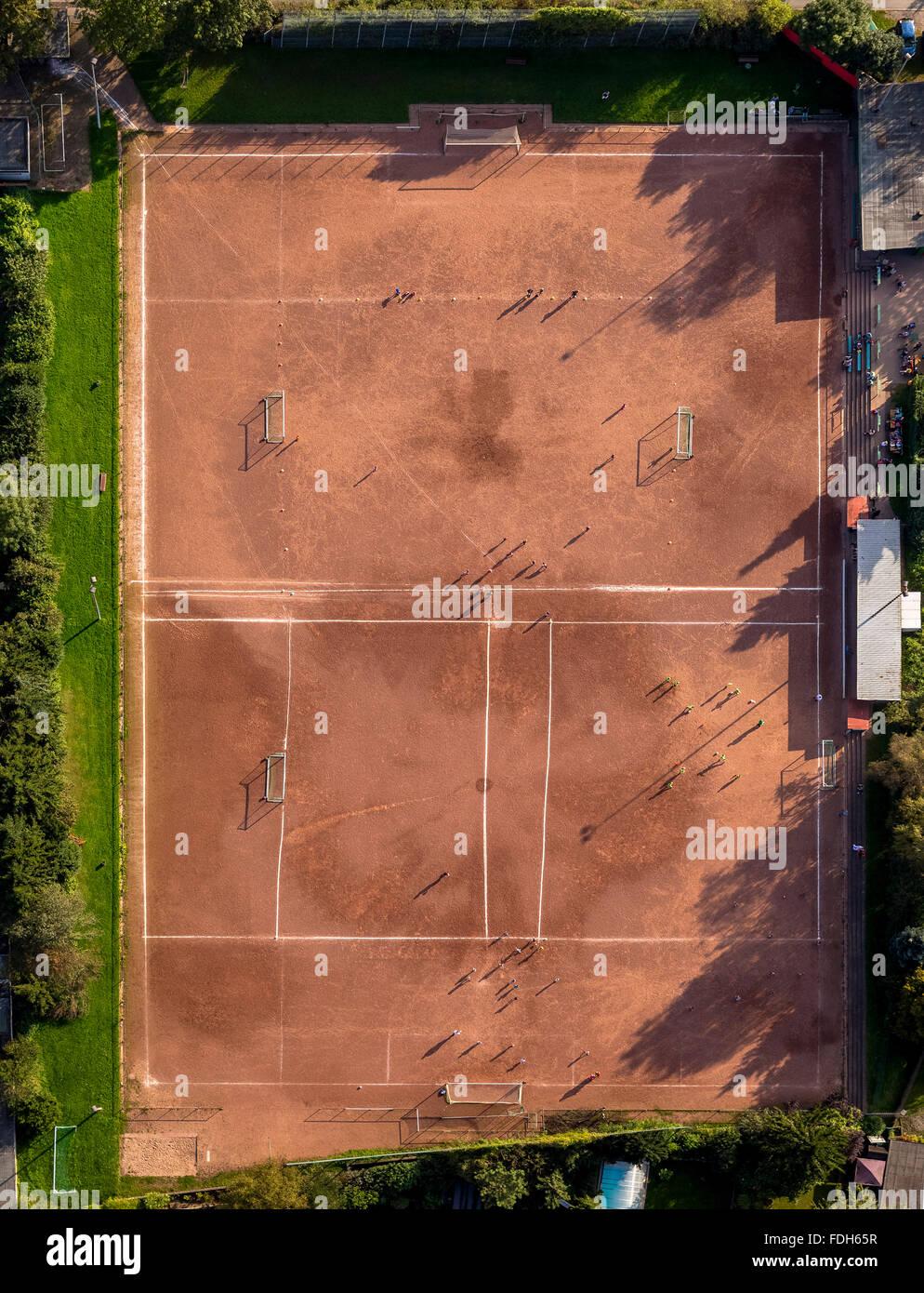 Vista aerea, impianto sportivo VfL Börnig in Herne Börnig nella formazione dei giovani, la registrazione Immagini Stock