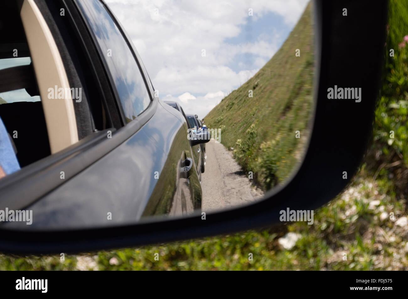 Specchietto specchio auto Immagini Stock