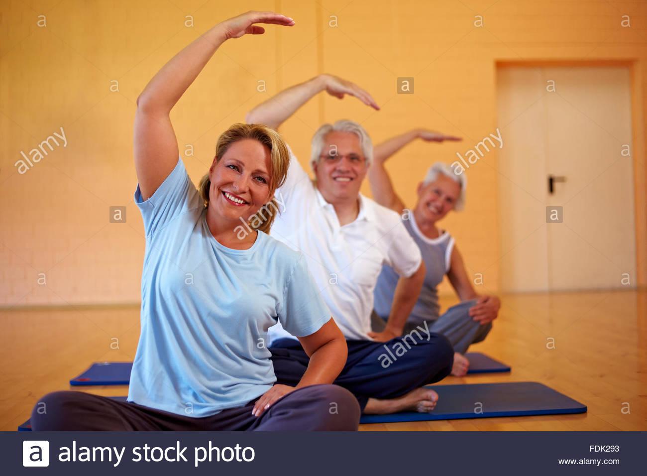 Ginnastica,stretching Immagini Stock