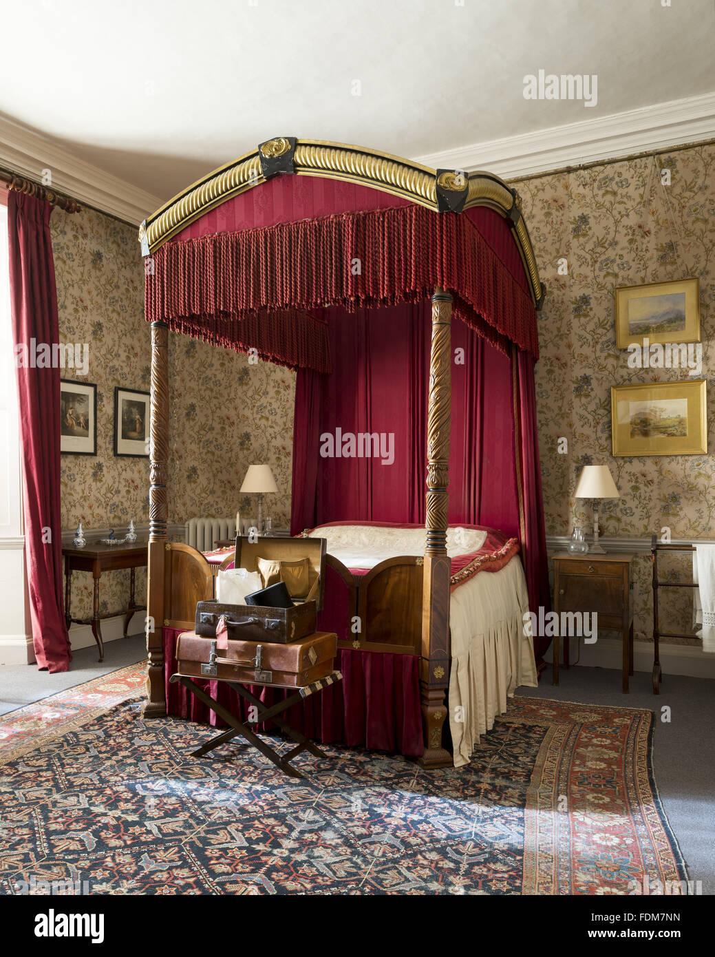 Il Glicine Camera da Letto a Castello di Dunster, Somerset ...