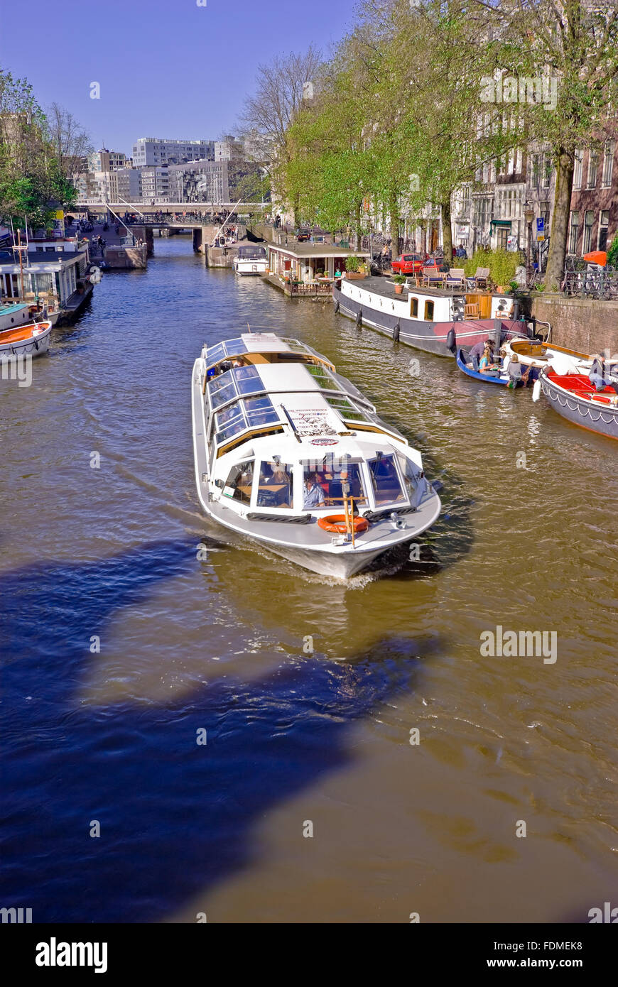 Tour in barca,gracht Foto Stock