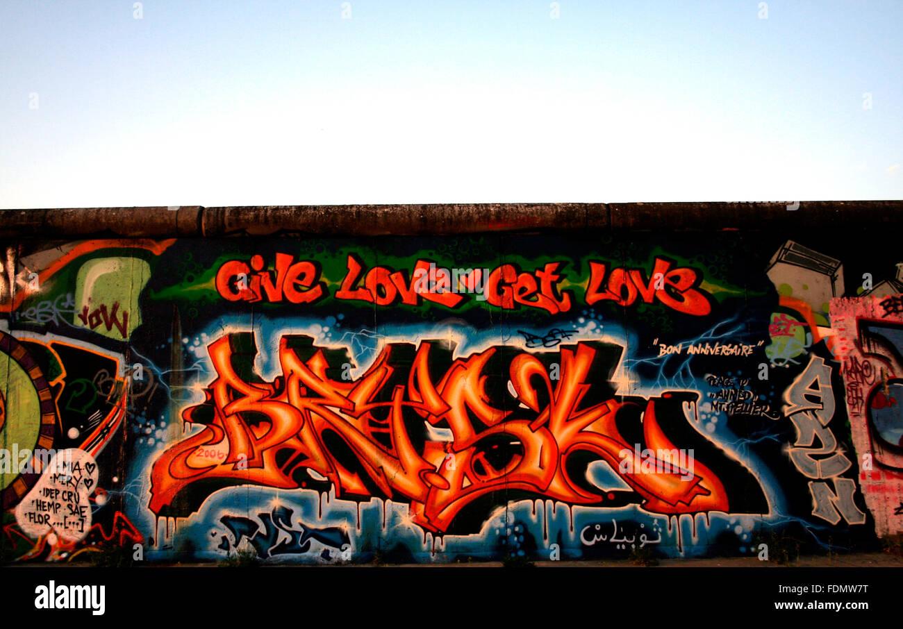 muro, graffiti Immagini Stock