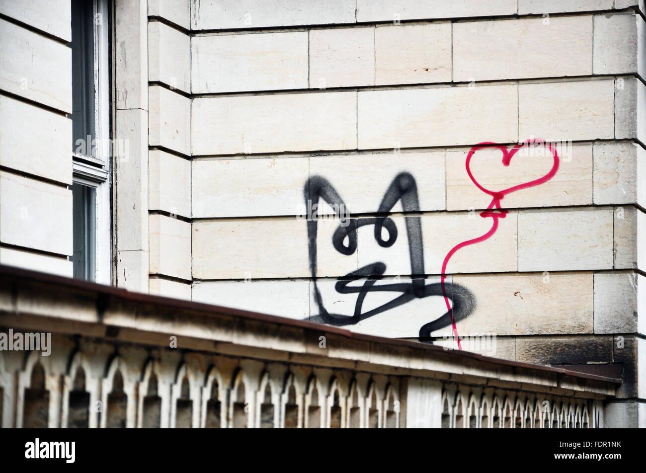 La vita urbana,graffiti,streetart Immagini Stock
