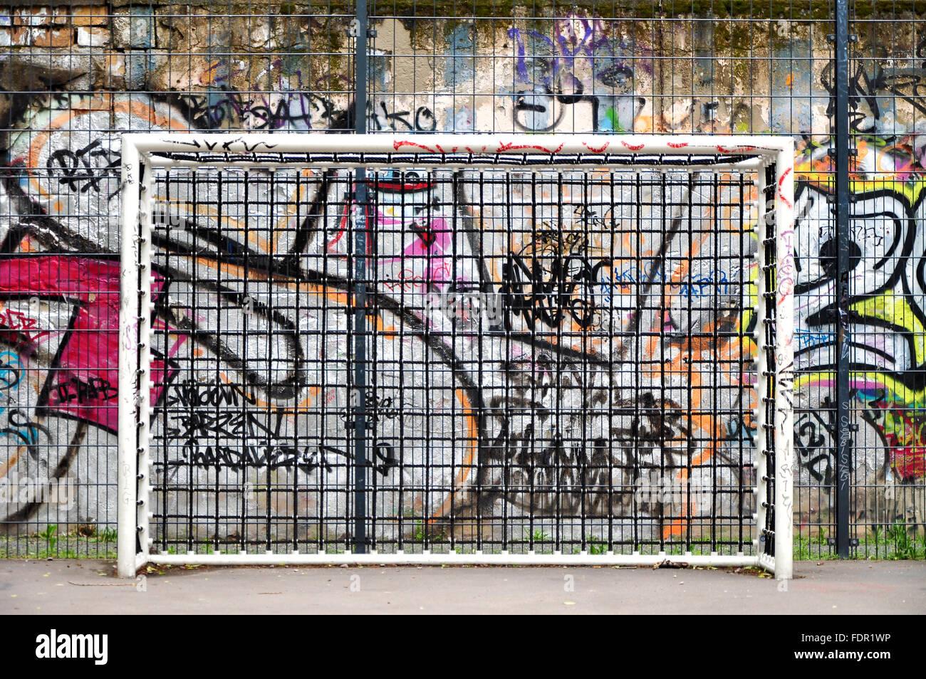 La vita urbana,cultura giovanile,sport place,obiettivo Immagini Stock