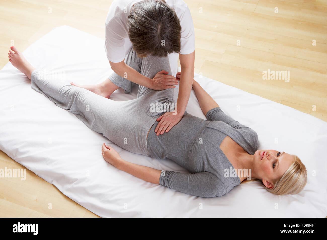 Hip,fisioterapia,fisioterapista,la terapia fisica Immagini Stock