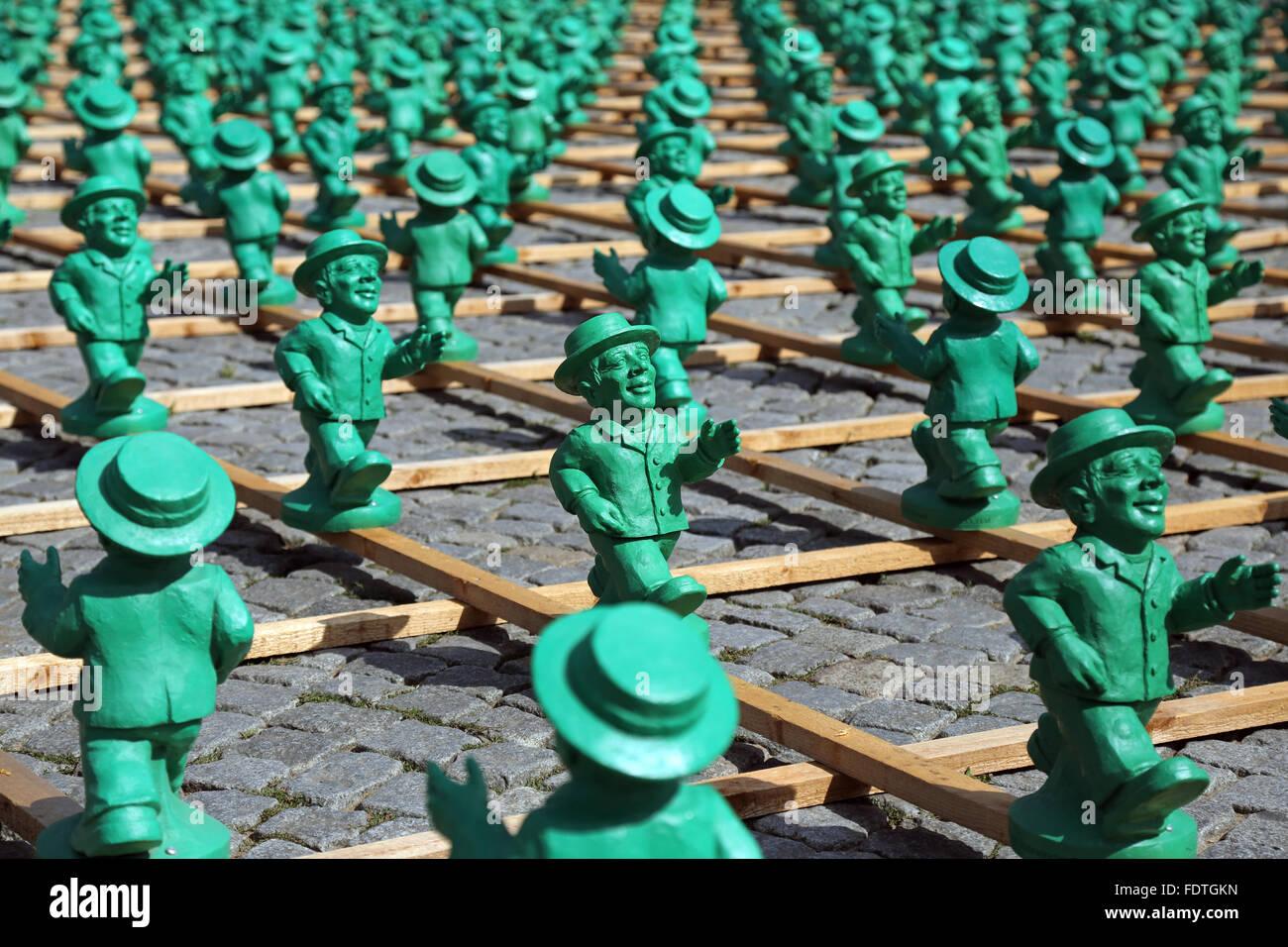 Schwerin, Germania, progetto di arte di superare i confini Ottmar Hoerl Immagini Stock