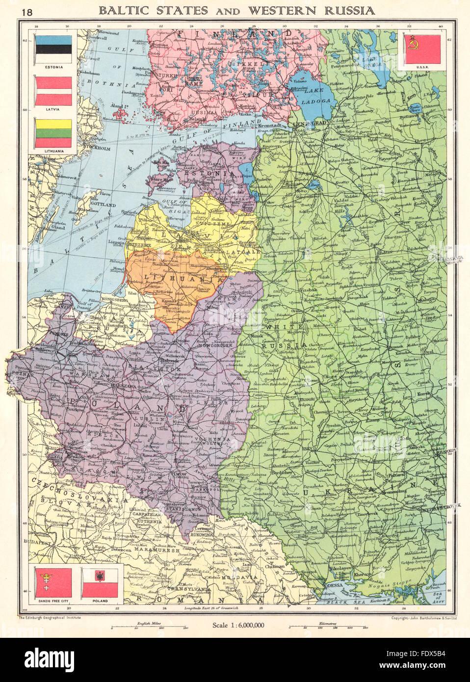 Cartina Europa 1938.Map Lithuania Latvia Estonia Immagini E Fotos Stock Alamy