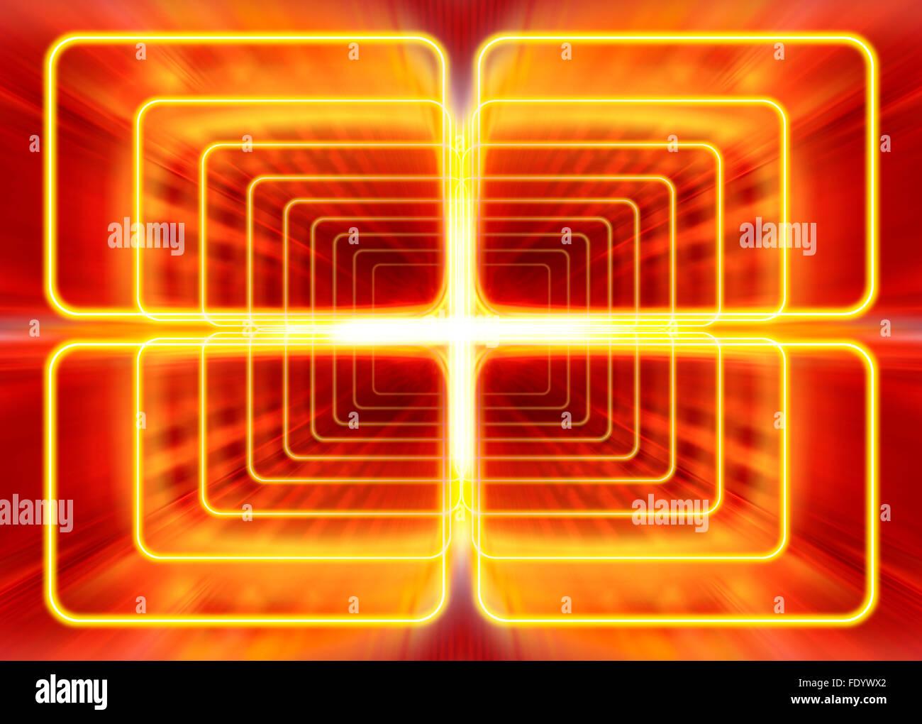 Modalità d'onda di radiazione elettromagnetica, sfondo astratto Immagini Stock