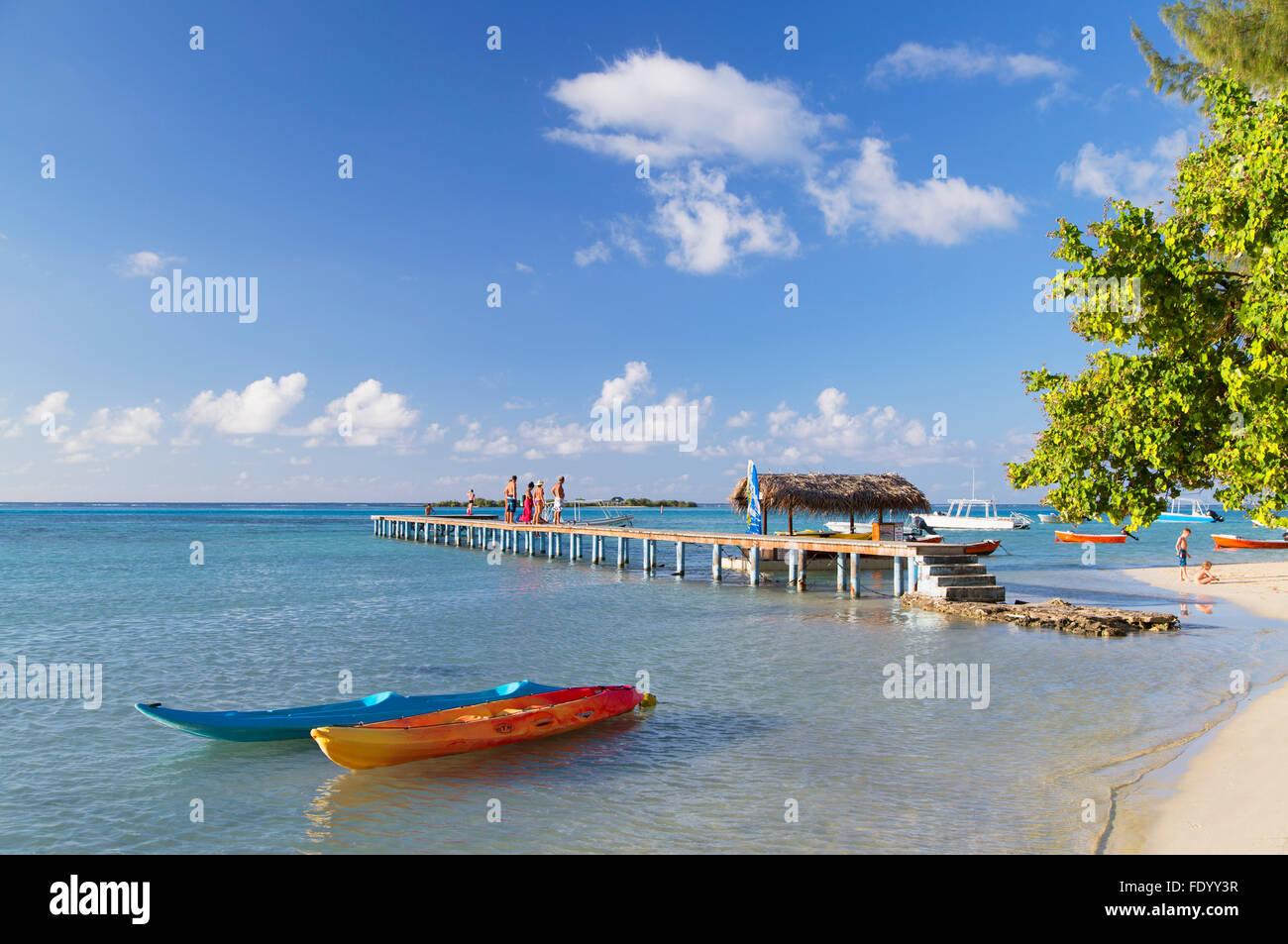 Hauru Point, Mo'Orea, Isole della Società, Polinesia Francese Foto Stock