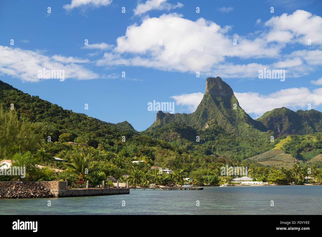 Cook's Bay, Mo'Orea, Isole della Società, Polinesia Francese Immagini Stock